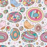 Bird and ball seamless pattern Stock Photo
