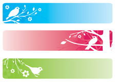 Bird banners Royalty Free Stock Images