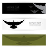 Bird banners Stock Photography