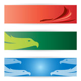 Bird  banners Stock Images
