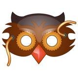 Bird beak mask on face in cartoon style. Bird beak mask on face drawn in cartoon style. masquerade, carnival accessories. Vector illustration isolated on white Stock Images