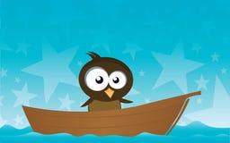 Bird on a Boat Stock Photo