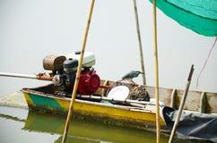 Bird on Boat Stock Image