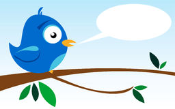 Bird on a Branch. Illustration of a bird on a branch Stock Images