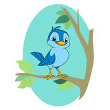 Bird on a branch Stock Photography