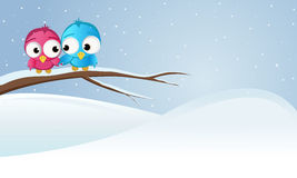 Bird on a branch. Love, snow, winter bird on a branch royalty free illustration