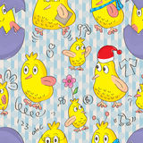 Bird Busy Seamless Pattern_eps Stock Photos