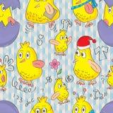 Bird Busy Seamless Pattern_eps Stock Photos