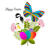 Bird butterfly easter Royalty Free Stock Image
