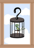 Bird in Cage Stock Images