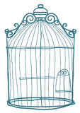 Bird Cage art cute Stock Image