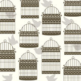Bird cage with birds Royalty Free Stock Photo