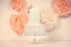 Bird cage cake Royalty Free Stock Photo