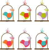 Bird cage colorful digital Royalty Free Stock Images