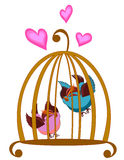 Bird cage. The colourful bird on cage vector illustration