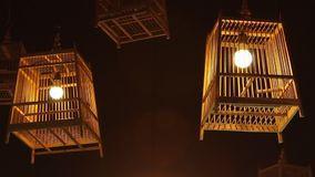 Bird cage lamp stock video footage