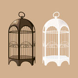 Bird cage set Stock Images
