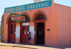 The Bird Cage Theatre - Exterior. The Bird Cage Theatre was a combination theater, saloon, gambling parlor and brothel that operated from 1881 to 1889 in Royalty Free Stock Photography