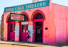The Bird Cage Theatre - Exterior. The Bird Cage Theatre was a combination theater, saloon, gambling parlor and brothel that operated from 1881 to 1889 in Stock Photos