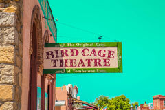 The Bird Cage Theatre - Exterior. The Bird Cage Theatre was a combination theater, saloon, gambling parlor and brothel that operated from 1881 to 1889 in Stock Photography