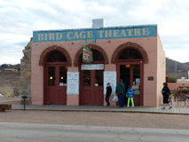 Bird Cage Theatre, Tombstone, Arizona. This is one of the few buildings from old Tombstone that never caught fire and looks just as it did in the 19th century Royalty Free Stock Images