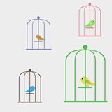 Bird in a cage Stock Photo