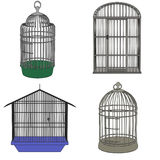 Bird cages. Cartoon image of bird cages vector illustration