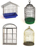 Bird cages. Realistic 3d render of bird cages royalty free illustration