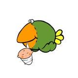 Bird carries a newborn Royalty Free Stock Photos