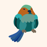 Bird cartoon design elements vector Royalty Free Stock Photo