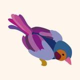 Bird cartoon design elements vector Royalty Free Stock Image