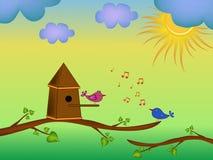 Bird cartoon illustration Stock Images