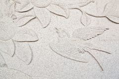 Bird carve wall Stock Photos