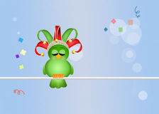 Bird celebrate carnival Stock Image