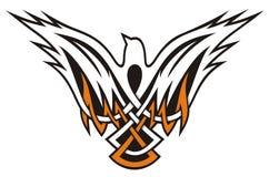 Bird Celtic icon Stock Photography