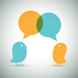 Bird Chat Royalty Free Stock Images