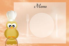 Bird chef with menu Stock Images