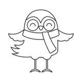 Bird clothes winter icon Stock Photography
