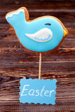 Bird cookie and Easter card. Stock Images