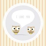 Bird couple card1 Royalty Free Stock Photo