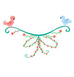 Bird Couple Decoration Stock Images