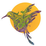 Bird creative emblem Stock Images