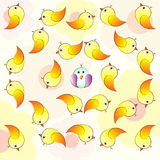 Bird Crowd Pattern
