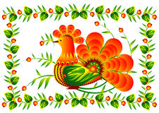 Bird on the decorative flower vector EPS10 Stock Images