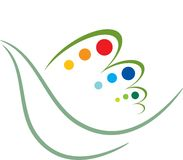 Bird design. Isolated line art Bird design Royalty Free Stock Photography