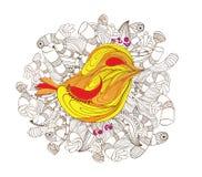 Bird doodle art Royalty Free Stock Image