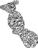 Bird doodle cartoon - hand drawing Royalty Free Stock Photography