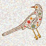 Bird on dotted background Stock Image