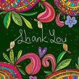 Bird drawing chalk thank you Royalty Free Stock Image