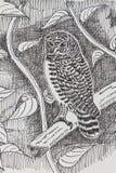 Bird drawing Royalty Free Stock Image